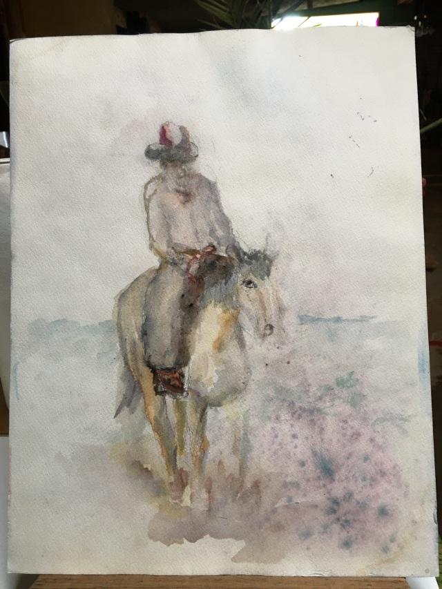 HJN0003W Side 2 Solitary Horseman