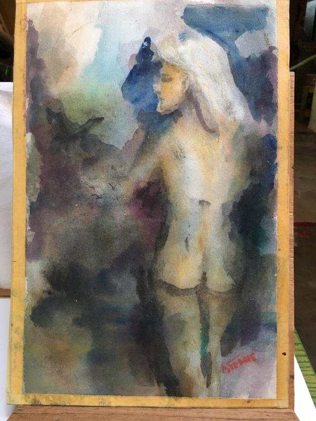 HJN0004W, Side 1, Female Nude