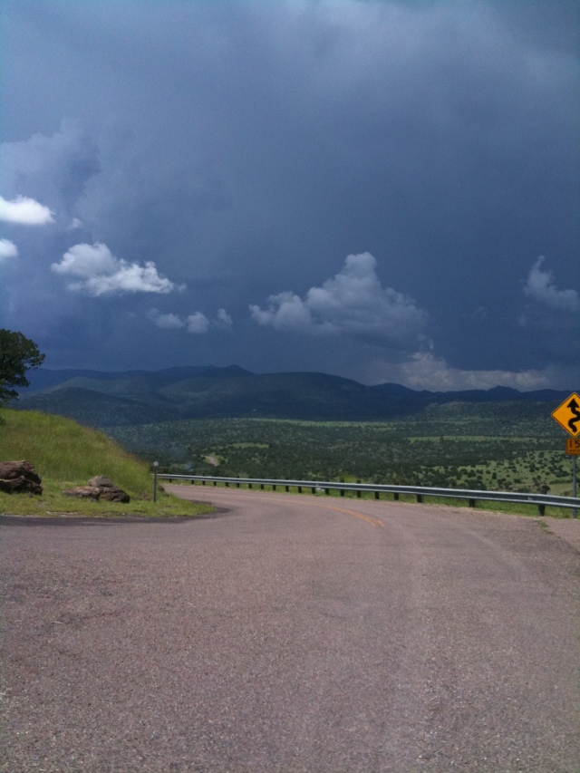 Stormy view from Mt. Locke, JMN, 2009, photo. (Copyright 2018 James Mansfield Nichols. All rights reserved.)
