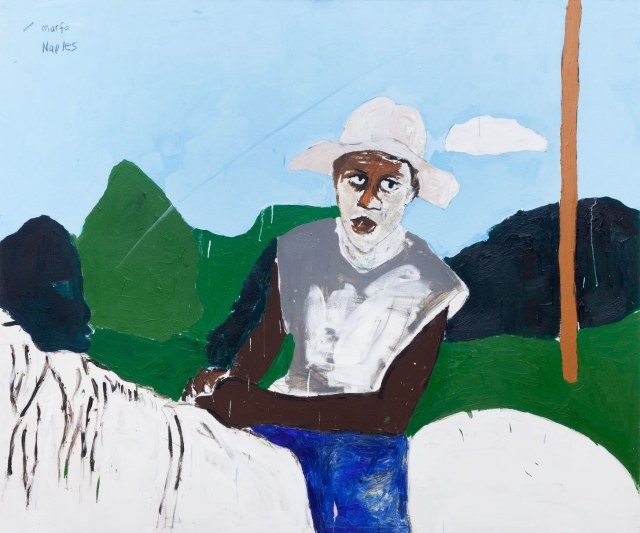 "Henry Taylor ""Man on Horseback in Naples, TX,"" from 2015.Courtesy the artist and Blum & Poe"