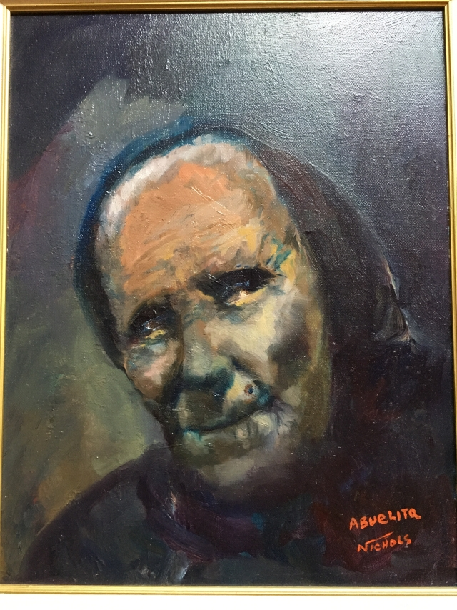 HJN2000L Abuelita. Oil on canvas, 16 X 20 in. Framed, signed. $1450