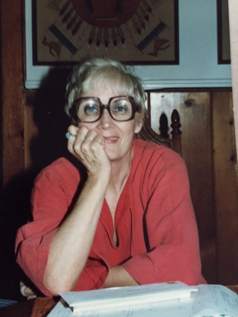 Mother Pensive With Huge Glasses, JMN, photo. (C) 2018 James Mansfield Nichols. All rights reserved.