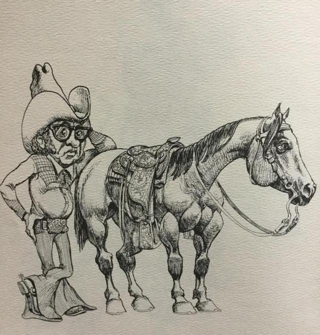 Tom Jones drawing.