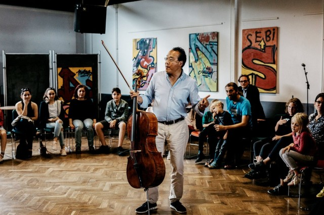 """Learning a new piece is like moving from one place to another,"" Mr. Ma said to a small audience,"