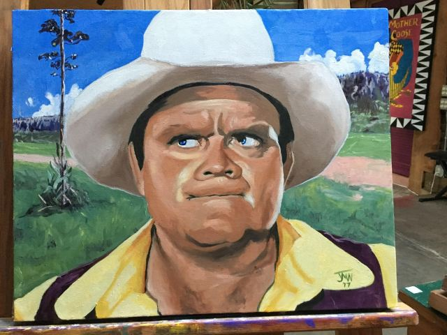 Hoss. JMN, oil on canvas.