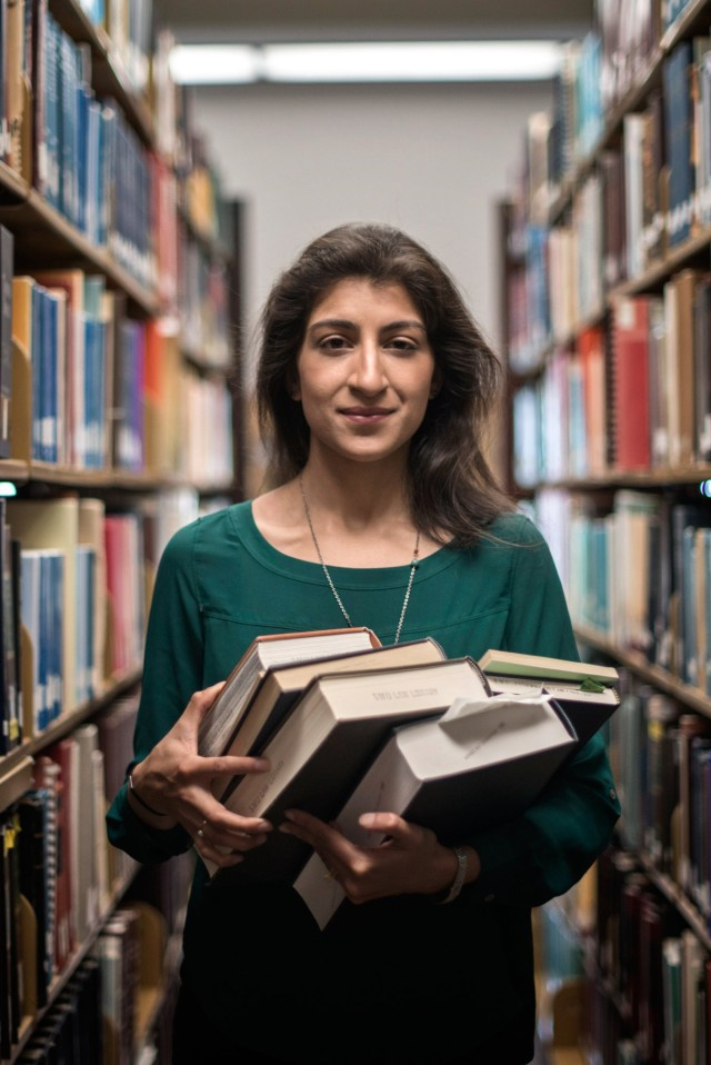 Lina Khans writing has rocked the antitrust establishment — and made her an unlikely celebrity in Washington policy circles.Credit Brandon Thibodeaux for The New York Times