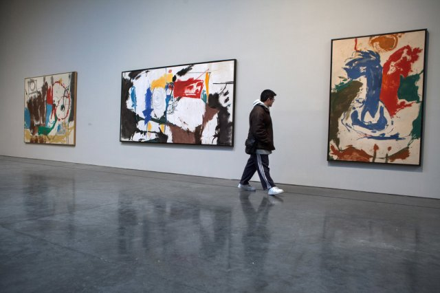Red Square, 1959 (center) by Helen Frankenthaler at the Gagosian gallery in 2013.CreditCreditRichard PerryThe New York Times