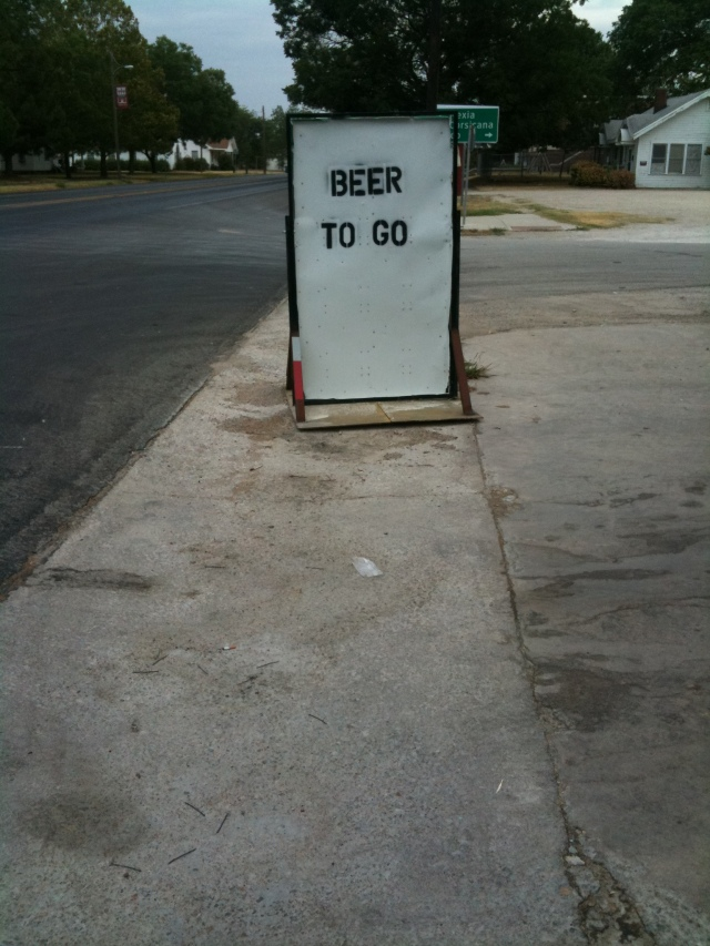 Beer to Go, JMN, photo, 2009.