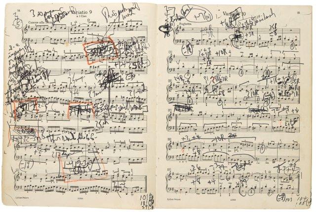 Glenn Gould Scribbles