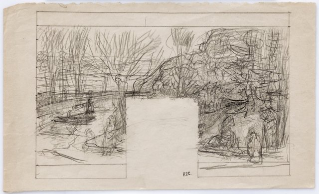 "Puvis's ""Study for Summer,"" circa 1890-91, pencil on paper.Creditvia Michael Werner Gallery"