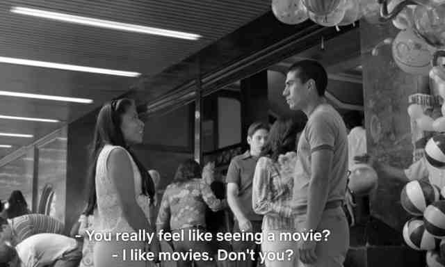 Roma movie scene