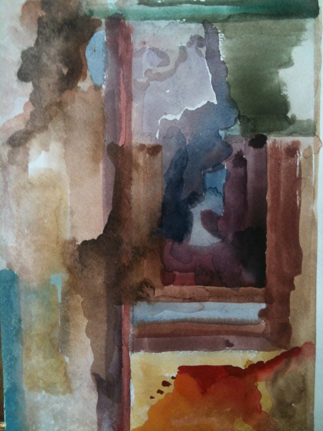HJN, Abstract, watercolor