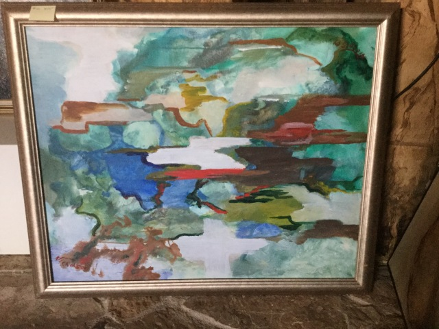 HJN. Abstract oil, signed top and bottom