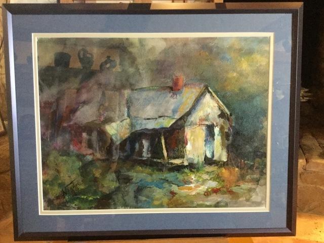 HJN. Acrylic. Old house