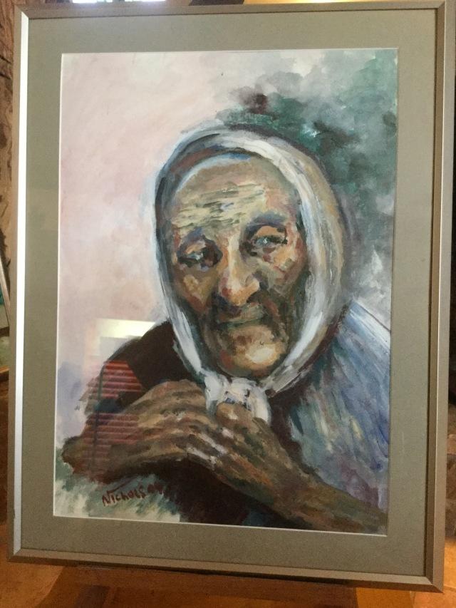 HJN. Acrylic. Old woman