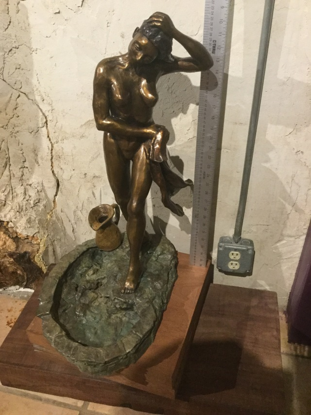 HJN. Bronze nude. 1 of 2.