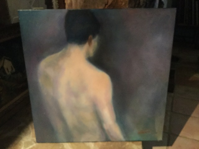 HJN. Oil nude on canvas