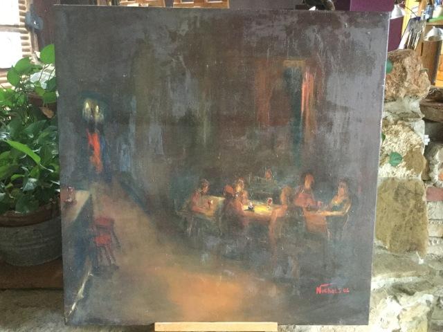HJN. Oil on canvas. 205 bar