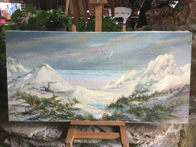HJN. Oil on canvas. Dunes