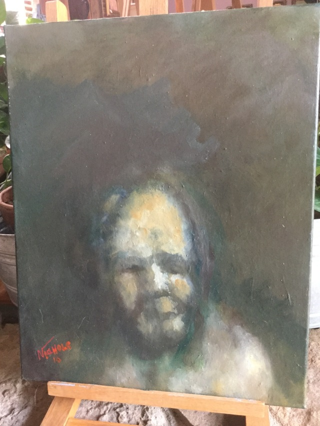 HJN. Oil on canvas. Old woman
