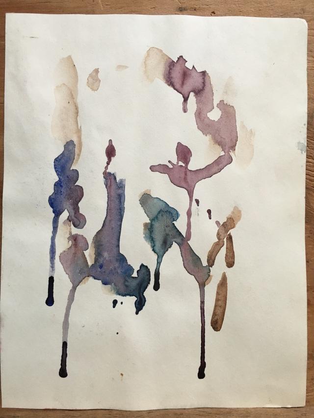 HJN0008W Avocado Pit. Watercolor, 7 x 9 in. Side 2